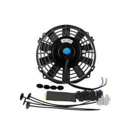 Ventiladores elétricos 12v on-line-7 polegada 12 V 80 W Carro Slim Radiador de Arrefecimento Thermo Ventilador Elétrico kit de Montagem