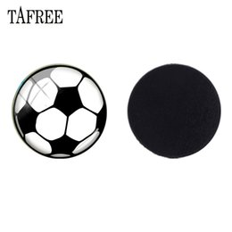 Esferas de voleibol on-line-25mm Cúpula De Vidro De Futebol Badminton Voleibol Talão Ímã de Geladeira Ímãs de Geladeira Imã de geladeira Adesivo Magnético DIY Sp709