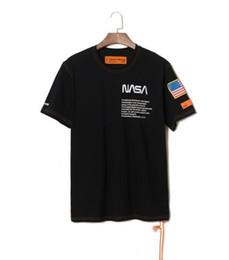 New York Fashion High Quality Airone Preston Nasa USA Flag Ricamo Uomo Donna Street Luxury Cotton Hoody T-shirt manica corta casual da usa t-shirt donna fornitori