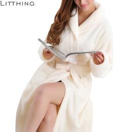 Litthing Lovers Dress hombres cálidos super suave franela Coral Fleece bata de baño para hombre Kimono bata de baño bata batas Q190513 desde fabricantes