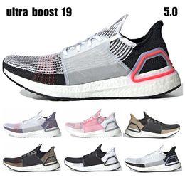 9a7bad63247e Ultra Boost 19 Ultra Boosts 4.0 5.0 Laser Red Dark Pixel Core Black Oreo Men  Women Running Shoes Ultraboost Trainer Sneakers