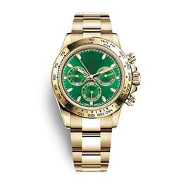 2019 мужские часы зеленый золото Роскошные швейцарские часы автоматические механические Green dial мужские часы спортивные военные золото из нержавеющей стали мужские часы 116508 116505 116509 Reloj дешево мужские часы зеленый золото