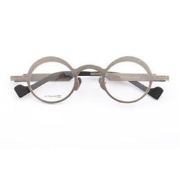 0842c876de Cubojue Titanium Glasses Frame Men Women Novelty Round Eyeglasses Man s  Degree Optical Prescription Spectacles Vintage Style