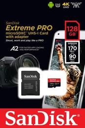 SanDisk 128 Go Extreme Pro MicroSDXC UHS-I U3 A2 V30 128 Go avec adaptateur jusqu'à 170 Mo / s ? partir de fabricateur