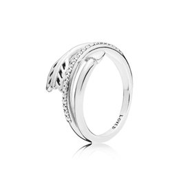 wedding arrow Promo Codes - NEW arrival 925 Sterling Silver Love Ring Original Box for Pandora Sparkling Arrow Ring Women luxury designer CZ Diamond Rings Set
