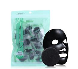 Tessuto di bambù del carbone di legna online-Maschera per il viso compressa carbone carbone di bambù Maschera per il viso nera fai-da-te Tessuti non tessuti Controllo forte dell'olio ad adsorbimento 40 pezzi