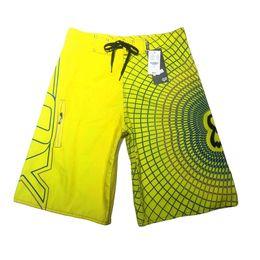 calças curtas azul escuro homem Desconto Shoreline fox verão homens surf surf calções calças de praia esportes amarelo listras azuis escuras homens natação calções secagem rápida plus size