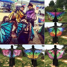 Venta al por mayor 13 colores mujeres bufanda ala mariposa cabo pavo real mantón envolver regalos lindo de la novedad imprimir bufandas s desde fabricantes