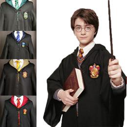 Abiti bianchi online-Copricapo per bambini per adulti Harry Potter Felpa con ricamo speciale Felpa magica Camicia bianca Cravatta a righe di Halloween Sciarpa di Harry Potter
