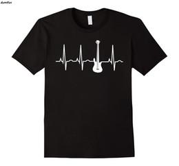 manche de guitare court Promotion Bass Player Shirt Bass Guitar Player T-Shirt Heartbeat T-Shirt harajuku streetwear hommes drôles chemise à manches courtes en coton avec col t-shirts