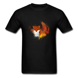 64ee0fd7a Blazing Fox T-shirts For Men Casual T Shirt Watercolor Fox Tshirt Summer  Autumn Clothes Adult Oversized Tops Tees Drop Shipping