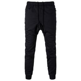 pop de poche Promotion Designer de mode mens pantalon sarouel automne hanche pop crayon pantalon avec poches mens occasionnel