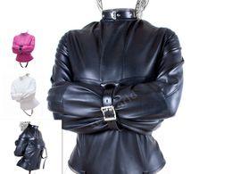 Giacca in pelle da donna PU BDSM Giochi per coppia per adulti Giacca dritta Pettorina regolabile in feticcio Body bondage Do Customer Size da reggiseno sportivo rosso delle ragazze fornitori