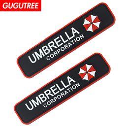 Patchs militaires en pvc en Ligne-Le parapluie PVC de GUGUTREE HOOkLOOP corrige des correctifs militaires des badges des correctifs appliqués pour des vêtements SP-592