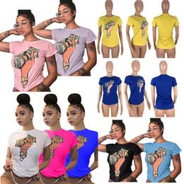 6a1f4f5e3 S-3XL Dólares de las mujeres Camisetas impresas O Cuello corto Manga corta  Tops Sport Casual Tees Mujer Verano Nuevo tipo Sexy Club Ropa C42907
