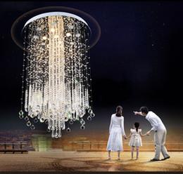 Pflaumenkronleuchter online-Kommerzieller großer pflaumenförmiger Kristallleuchter. Wohnzimmer. Runde Villa mit Doppeltreppe. K9 klarer Kristall. LED Lichtquelle. Stainle