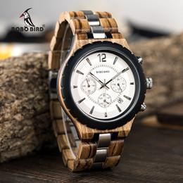красивые часы мужчины Скидка BOBO BIRD Men Watch Classic  Wood Metal Chronograph Auto Date Display reloj hombre 2019 Handsome Gift C-hR22 Dropship