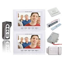 Ev Güvenlik 7 Inç Görüntülü Kapı Telefonu Zil İnterkom Kiti Güvenlik Kamera Interkom Sistemi 1-camera 2-monitor + Elektronik kilitler nereden