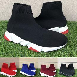 Sapatas do olho on-line-Triplo Preto Branco Vermelho Cinza Ameixa Royal Eye Speed Trainer Meias Sapatos de Alta Qualidade Das Mulheres Dos Homens de Designer de Moda Sapatos Casuais 36-45