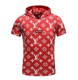 Canada 2019 mens designer t shirts Nouveau produit d'été Tee-shirt mode manches courtes Vêtement Casual Lettre imprimé Chemise à capuche blanche Hip Hop Offre