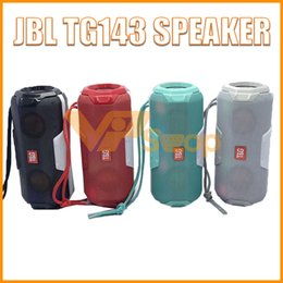 2019 bluetooth altoparlante hi fi JBL TG143 Altoparlante wireless Bluetooth Subwoofer portatile Mini Bass Soundbar esterno Hi-Fi Boe Boxe Supporto TF Card Radio FM bluetooth altoparlante hi fi economici