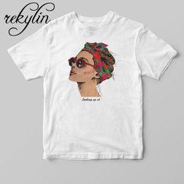 Женские белые футболки онлайн-2019 Fashion Cool Print Female T-shirt White Cotton Women Tshirts Summer Casual Harajuku T Shirt Femme Top