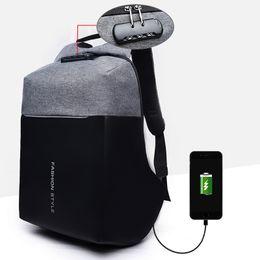 Zaino antifurto Uomo Zaini per laptop da 15 pollici di grandi dimensioni Zaino impermeabile Oxford Bagpack Caricatore USB Zaino antifurto maschio da arco del nastro del panno fornitori
