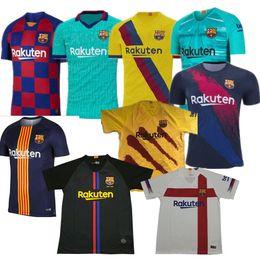 2019 entrenamiento de sombrero negro 19 20 Jersey de Barcelona Messi Camisetas de fútbol SUAREZ MALCOM Maillot de foot Jersey de Barcelona PIQUE Vidal Dembele DE JONG 2019 2020 GRIEZMANN