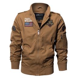 Automne Mens Bomber Vestes Et Manteaux Vêtements D'hiver Hommes De Base Vestes Poches Manteau De Mode Mince Casual Coupe-Vent Plus La Taille 4XL ? partir de fabricateur