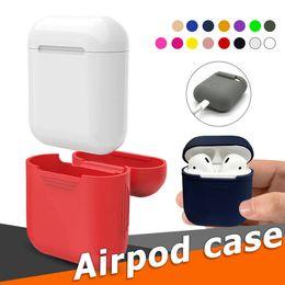 2019 funda de silicona suave Funda de silicona para Apple Airpods Funda protectora suave y ultra fina Funda para vainas de aire Estuche para auriculares rebajas funda de silicona suave