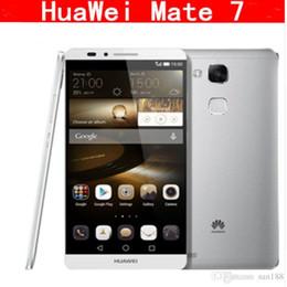 2019 huawei ascend dual sim téléphones Téléphone intelligent d'origine Huawei Ascend Mate 7 4G LTE 6.0 pouces 3G RAM 16G 32G 64G Octa Core 13.0MP Unloked huawei ascend dual sim téléphones pas cher