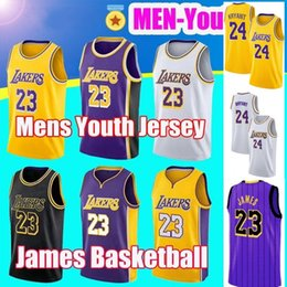 2019 New 23 James Lakers Jersey 24 Kobe LeBron Bryant Los Angeles 8  Basketball 32 Johnson Embroidered Logo City Edition Jersey d79b6a0c2