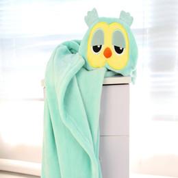 2019 manta de manta de desenho animado 100 * 75 cm Bebê Flanela Com Capuz Roupão de Banho Animal Dos Desenhos Animados Meninos Meninas Toalha De Banho Crianças Manto Manto Toalha Cobertores de alta qualidade desconto manta de manta de desenho animado