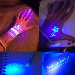 2 in 1 UV Light Graffiti Invisible Ink Pen Marker Highlighter Pen 3 x L736 Battery (Included) Office Supply от