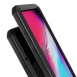 Сверхмощные чехлы для мобильных телефонов онлайн-Оригинальный S10 5G TRU + Drop Proof Прочный алюминиевый металлический корпус для Samsung Galaxy S10 5G Защитный чехол для мобильного телефона с защитой экрана