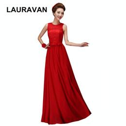 2019 vestidos vermelhos de jantar curto Red simples meninas longo o decote mulheres chiffon vestido de jantar da dama de honra vestidos ocasião especial vestidos de noiva para o casamento vestidos vermelhos de jantar curto barato
