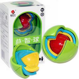 2019 tipos de brinquedos para bebês 12 meses Sabedoria bola 3d inteligência magaic ball game puzzle bola brinquedos educativos para crianças qi blocos de treinamento brinquedo inteligente labirinto diy presente crianças brinquedos