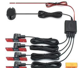 opel fernauto Rabatt Parksensoren Parktronics 4 Schwarz / Silber / Weiß 16,5-mm-Flachsensoren Reverse-Backup-Radar-Sound Summer-Alarm Einstellbarer Sound