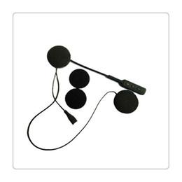 Motosiklet Kask Kulaklık Bluetooth 4.0 Çift Stereo Hoparlörler Eller Serbest Müzik Çağrı Kontrol Mic Kulaklık Blac nereden kask mic tedarikçiler