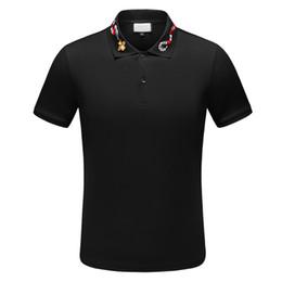19SS Italia diseñador raya polo camiseta camisetas de lujo serpientes polos abeja bordado floral para hombre High street fashion horse Marca polo desde fabricantes