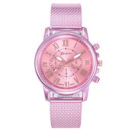 Nueva Moda Mujer Reloj de Pulsera 3 Ojos Cadena de Malla de Lujo Reloj de Las Mujeres Pulsera Reloj Mujer Reloj Relogio Feminino desde fabricantes