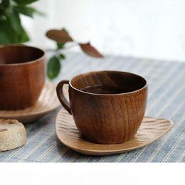 Ретро деревянные кофейные кружки чашки примитивные ручной работы домашний натуральный деревянный кофе чай Чашка воды с ручкой офисные чайные кружки большой емкости DH1293 T03 от Поставщики пиратские стаканы