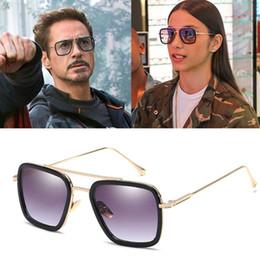 51ae851c1e5 Discount lentes sol hombre - MISM New Retro Tony Stark Sun Glasses Square  Sunglasses Men Vintage