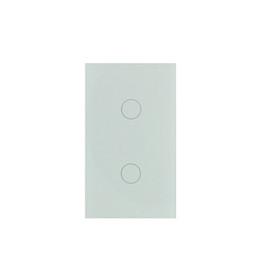 Interruptor de iluminación del hogar de control remoto online-EE. UU. Smart Life APP Control remoto Interruptor de luz de pared de 2 bandas de 2 bandas con sistema de automatización para el hogar inteligente Tuya