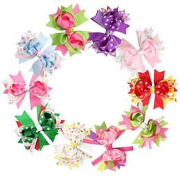 Estampados de mariquita online-Colorido Arco Clips para el cabello Swallowtail Festival Pinzas para el cabello Arco Princesa Tarjeta Dot Impresión Mariquita de fresa 4