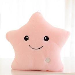 almohada de fibra hueca Rebajas Las mujeres el regalo romántico LED encienden para arriba la almohada del resplandor suave Cozy Relax Cushion Star