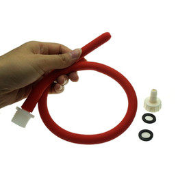 Cabeça de enema on-line-50 cm de comprimento tubo de limpeza anal silicone macio enema brinquedo do sexo anal bocal acessório chuveiro cabeça de limpeza vaginal tubo de enema anal