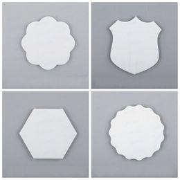 Imanes del corazón online-DIY creativo Pega magnética personalizados espacios en blanco sublimación especiales en blanco Forma Frigorífico Etiqueta del corazón imán para frigorífico Regalos populares 3krH1