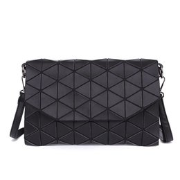 grey patent clutch bag Promo Codes - 2019 New Fanshion Plaid Geometric Shoulder Bag Women Handbags Sac Casual Clutch Totes Messenger Bags Evening Crossboday Pu Leather