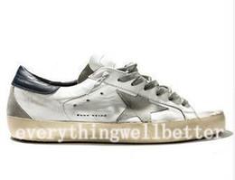 design estelar calçado casual Desconto GoIden Goose/GGDB hococal treinador de alta qualidade ganso tênis novos couro vilosidades homens e mulheres sapatos de couro casuais luxo super star Hococal